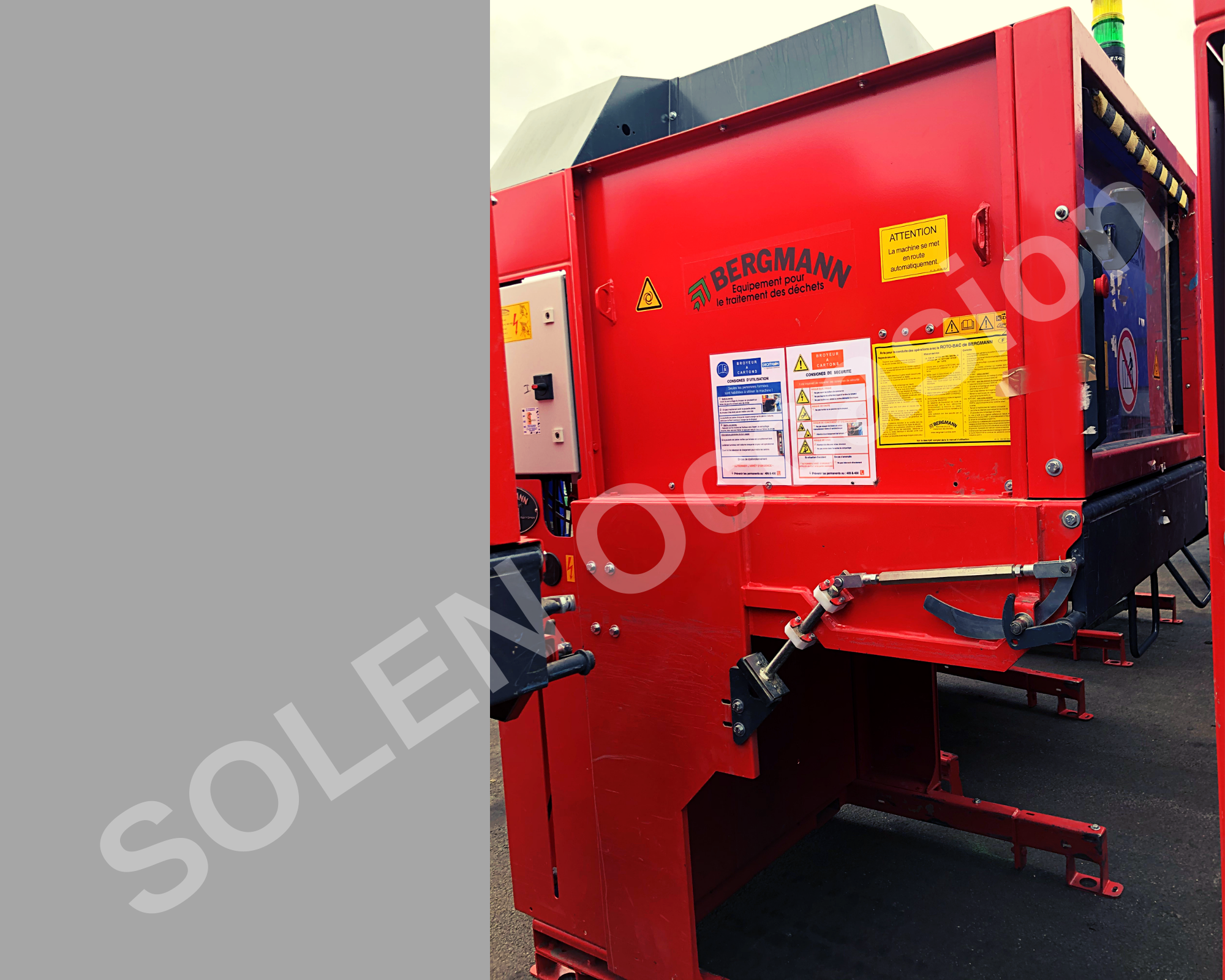 ROTOS Compacteurs - Bacs APS 1100-e 183 BERGMANN - 12121